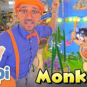 Learning Animals With Blippi In The Indoor Amusement Park | Educational Videos For Kids
