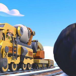 Brock's Rock-in Penguin Delivery 🐧 Mighty Express | Netflix Jr