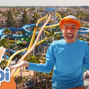 Learning With Blippi At The Water Park | 1 Hour of Blippi Kids TV Show | Educational Videos For Kids