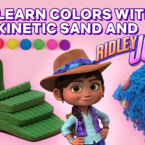Learn Colors with Ridley Jones SUPER Satisfying Sand! | Netflix Jr