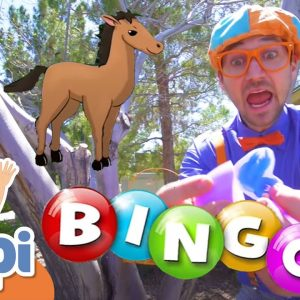 Playing BINGO With Blippi - Learning Farm Animals For Kids | Educational Videos For Kids