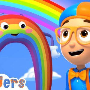 Blippi Wonders - Blippi Learns Rainbow Colors! | Blippi Animated Series | Cartoons For Kids