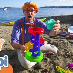 Blippi Goes Kayaking and Makes Sandcastles at the Beach! | Educational Videos For Kids