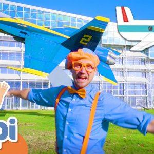 Blippi Explores Planes For Kids | Vehicles For Children | Educational Videos For Kids