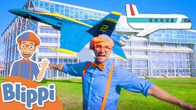 Blippi Explores Planes For Kids   Vehicles For Children   Educational Videos For Kids