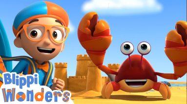 Blippi Wonders - Building Sandcastles! | Blippi Animated Series | Cartoons For Kids