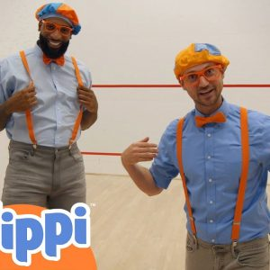 Blippi Plays Basketball With NBA Player Andre Drummond! | Fun and Educational Videos For Kids