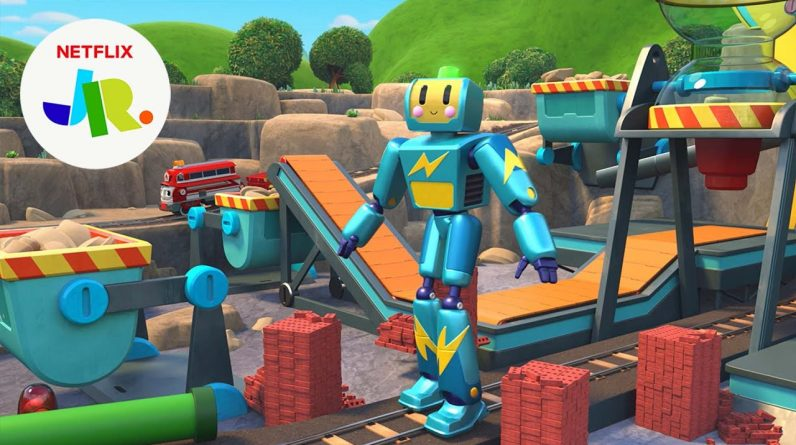 The GIANT Rowdy Runaway Robot Roundup 🤖 Mighty Express | Netflix Jr