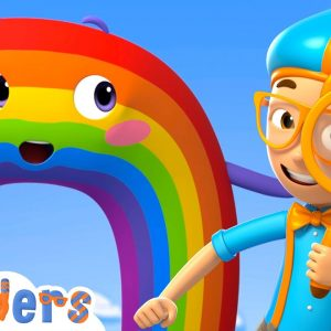 Blippi Wonders - Blippi Learns Rainbow Colors and More! | Blippi Animated Series | Cartoons For Kids