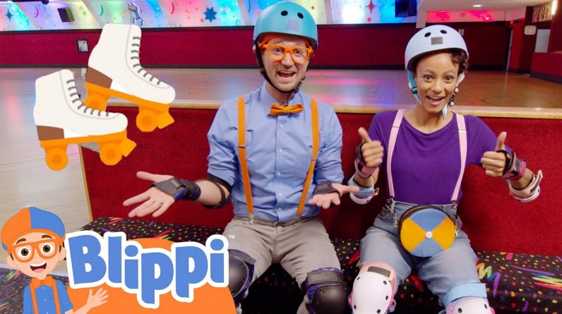 Blippi and Meekah Learn to Roller Skate! | Fun and Educational Videos for Kids