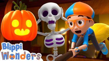 Blippi Wonders - Halloween Haunted House! | Blippi Animated Series | Cartoons For Kids