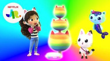 Rainbow Tree's Drip Dropping Colors 🌈 Gabby's Dollhouse | Netflix Jr