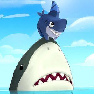 Sharkdog's Great White Friend Fright 🦈 Sharkdog | Netflix Jr